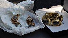 Изъятые ювелирные украшения, датированные I веком н.э. в Севастополе