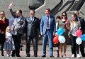 Первомайская демонстрация в Севастополе. Третий справа - врио губернатора города Дмитрий Овсянников. 2017 год