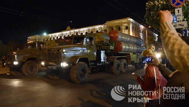 Репетиция парада Победы в Симферополе