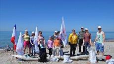 Активисты Общероссийского народного фронта проводят в Крыму серию экологических акций вдоль прибрежной зоны Республики