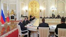 Заседание Госсовета РФ и Комиссии по мониторингу достижения целевых показателей социально-экономического развития страны. 4 мая 2017