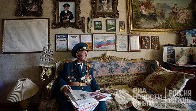 Ветеран Великой Отечественной войны, гвардии полковник Василий Галыгин