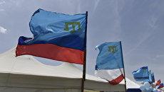 Флаги России, Крыма и крымско-татарский