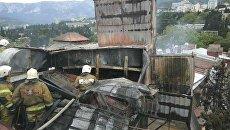 Пожар в отеле Вилла Елена в Ялте