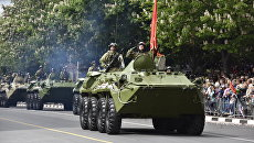 Военный парад в Симферополе