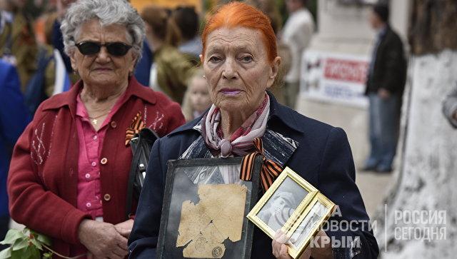 Шествие Бессмертного полка в Симферополе