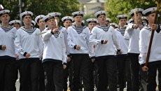 Участники Всероссийского сбора юных моряков Дорога в море в МДЦ Артек