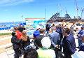 Министр транспорта России Максим Соколов посетил с рабочим визитом строительство моста через Керченский пролив