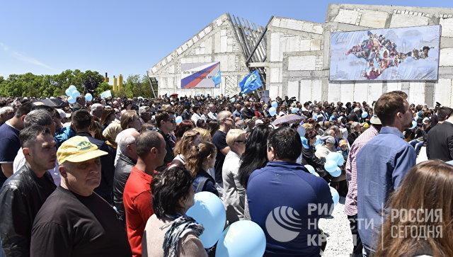 Мероприятия по случаю Дня памяти жертв депортации крымских народов на месте строительства мемориального комплекса жертвам депортации на железнодорожной станции Сирень Бахчисарайского района