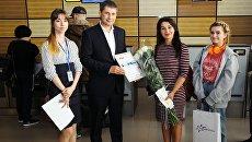 Встреча миллионного туриста в аэропорту Симферополь