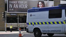 Полиция на месте взрывов у Манчестер-Арены. 23 мая 2017