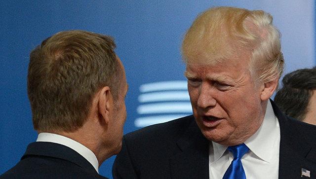 Президент США Дональд Трамп встретился с лидерами ЕС в Брюсселе, 25 мая 2017