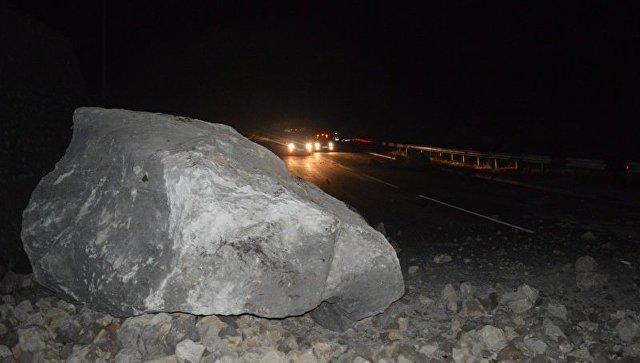 Ялта произошел камнепад: Натрассе Севастополь
