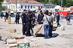 Масштабные мероприятия по пресечению стихийной торговли с участием сил Нацгвардии в Симферополе