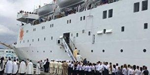 Освящение круизного лайнера Князь Владимир