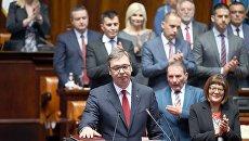 Избранный президент Сербии Александр Вучич, 31 мая 2017