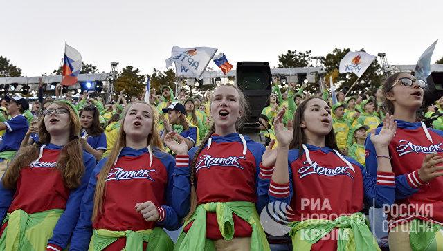 Открытие финала X конкурса молодых исполнителей популярной музыки Детская Новая волна в МДЦ Артек