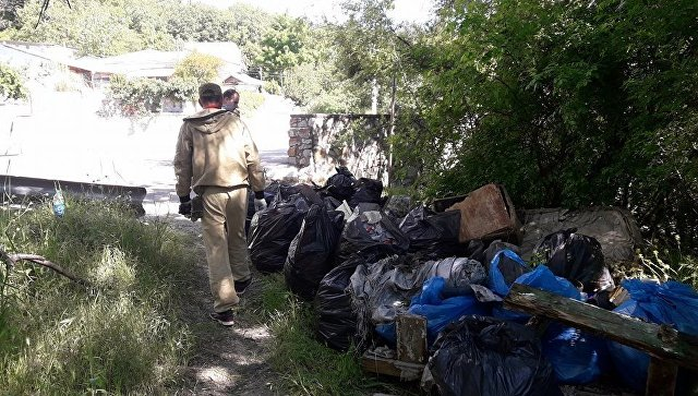 Активисты ОНФ ликвидировали свалку на лесном участке в районе пос. Линейное (Ялта)