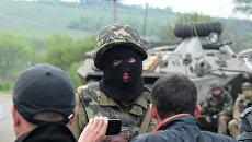 Украинский военный и житель востока Украины