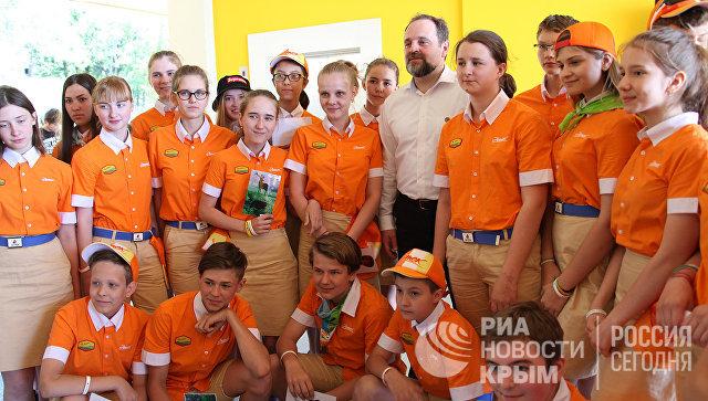 Министр природных ресурсов и экологии России Сергей Донской в МДЦ Артек