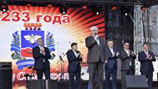 Губернатор Санкт-Петербурга Георгий Полтавченко на торжественном мероприятии по случаю 233-летия Симферополя