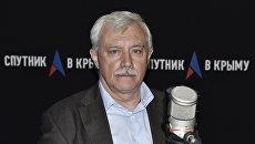 Губернатор Санкт-Петербурга Георгий Полтавченко на радио Спутник в Крыму