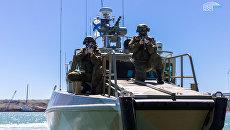 На строительной площадке моста через Керченский пролив прошла антитеррористическая тренировка