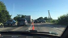 Авария на автодороге Симферополь-Джанкой