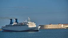 Прибытие круизного лайнера Князь Владимир в Севастополь