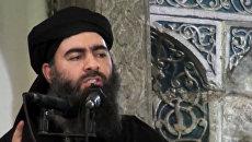Лидер террористической группировки Исламское государство Абу Бакр Аль-Багдади. Архивное фото