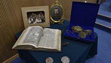 Экспонаты с выставки Древнехранилища (музея) памяти семьи императора Николая II