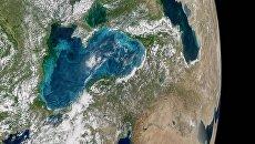 Вид на Черное море из космоса