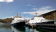 Пограничный сторожевой корабль 2 ранга Проворный пришвартовался в бухте Балаклавы. 18 июня 2017