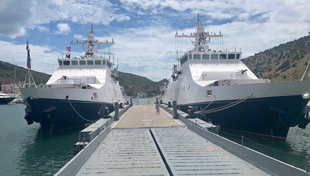 Пограничный сторожевой корабль 2 ранга Проворный пришвартовался в Балаклавской бухте