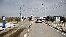 Пункт пропуска Джанкой на границе России и Украиной