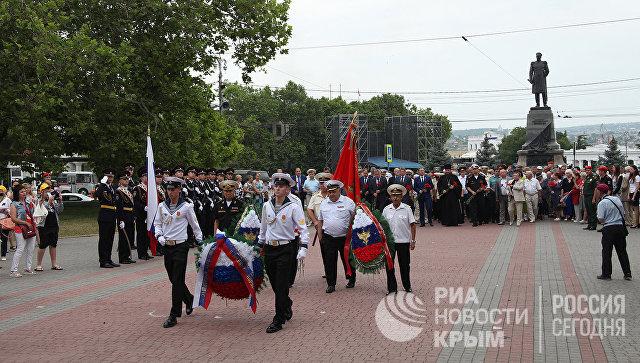 Возложение цветов в Севастополе, приуроченное ко Дню памяти и скорби