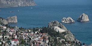 Побережье Черного моря в Крыму. Архивное фото