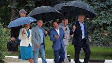 Президент РФ В. Путин посетил международный детский центр Артек