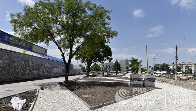Реконструкция площади перед Центральным рынком в Симферополе