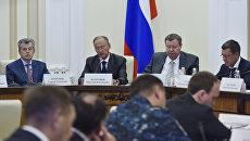 Секретарь Совбеза России Николай Патрушев на совещании по вопросам обеспечения национальной безопасности в Симферополе