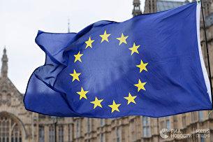 Флаг Европейского Союза (ЕС). Архивное фото