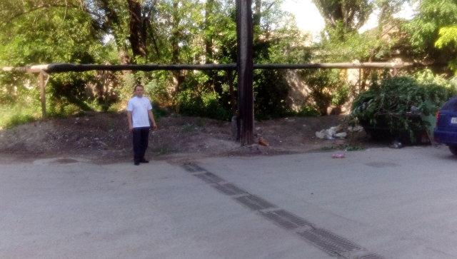Место, где была ликвидированная мусорная свалка на ул. Туристов в Симферополе
