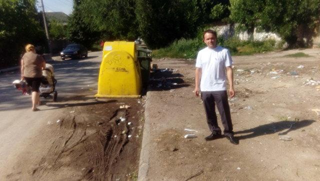 Место, где была ликвидированная мусорная свалка на ул. Индустриальная в Симферополе