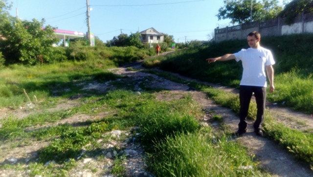 Место, где была ликвидированная мусорная свалка на ул. Ломоносова в Симферополе