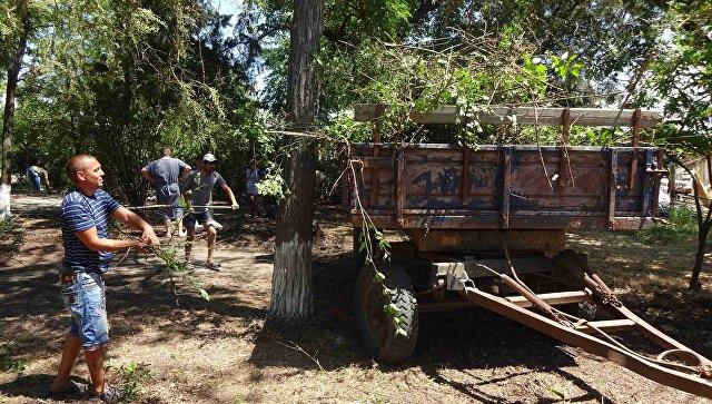 Акция по по благоустройству парковой зоны в селе Марьино Джанкойского района