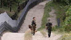 Пограничная служба на заставе Нормельн на полуострове Балтийская коса