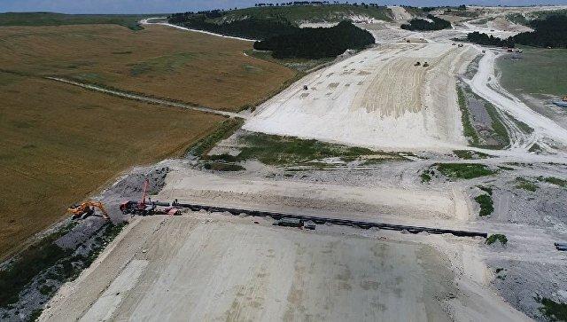 Строительство автомобильной дороги Дубки-Левадки