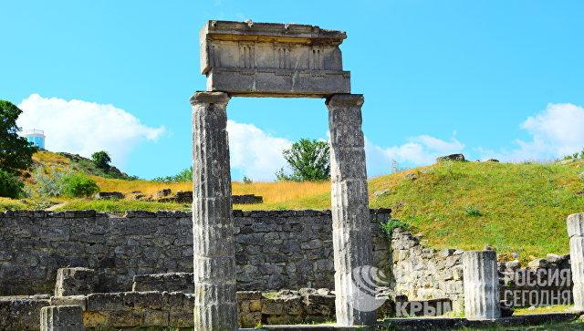 Развалины древнего города Пантикапей в Керчи