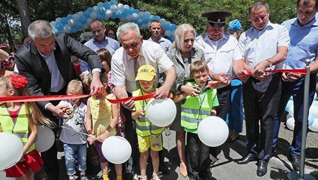 Открытие автогородка Дети-дорога-безопасность в Симферополе