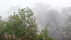Дождь с градом в Балаклаве